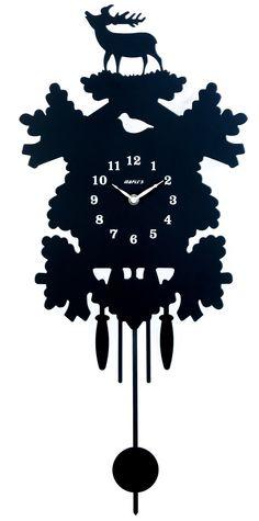 Maples Clock Silhouette Pendulum Wall Clock | Wayfair