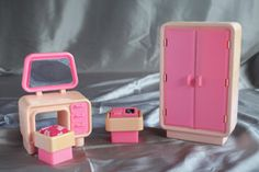 Vintage Barbie Dream House Bedroom Furniture