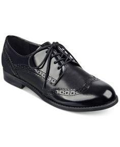 Marc Fisher Sailor Lace-Up Oxford Flats   Masculine Feminine shoe wear