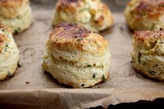 Feta and Chive Sour Cream Scones @FoodBlogs