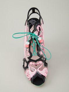 Shop Sophia Webster 'Flamingo' sandals.