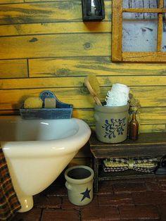 Miniature Dollhouse Bathroom Crocks by miniaturecabindecor, via Flickr