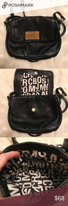 Marc Marc Jacobs Black Leather Isabelle Crossbody Small Black leather crossbody MBMJ with gold emblem. In perfect condition, no flaws. Comes with dustbag. Bag name: Isabelle Marc By Marc Jacobs Bags Crossbody Bags