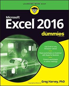 111929343X - Excel 2016 For Dummies (Excel for Dummies) - #books #reading -  - http://lowpricebooks.co/2016/08/111929343x-excel-2016-for-dummies-excel-for-dummies/