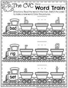 CVC Word Work | education | Pinterest | Word work, Worksheets and ...
