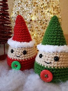 Holiday Gnome - free crochet pattern by Kristen Sachs