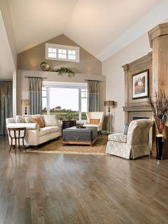 Mirage Red Oak Charcoal hardwood flooring. #decor #design #interiordesign http://www.prefloors.com
