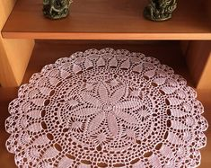 This item is unavailable Crochet Shawl Free, Lace Knitting, Snowflake Pattern, Doily Patterns, Lace Doilies, Crochet Doilies, Mantel Redondo, Birthday Presents For Mom, Crochet Coaster