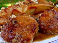 Vanilla Cider Pork with Pears & Walnut Wild Rice