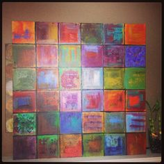 Sarah Barbian. Acrylic on canvas. Grid and abstract painting. It's a great way to explore colors!