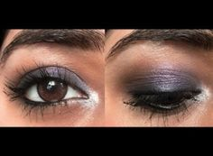 Easy purple party eye makeup for brown eyes by Android