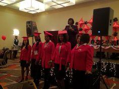 Red Jacket Graduation Mary Kay