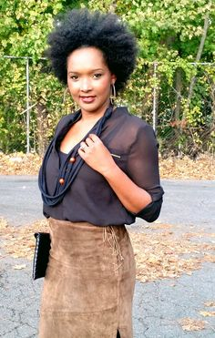Suede Pencil Skirt Outfit