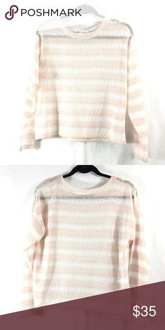 BCBGeneration sheer striped top White and light pink stripes. So cute! Good condition. Bundle 3+ from me and get 15% off, only pay shipping once, and get a free gift! BCBGeneration Tops