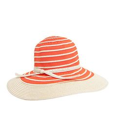 2ced3bb967d Love this Orange  amp  Beige Wide Brim Sunhat by Boardwalk Style on  zulily!  Sun Hats