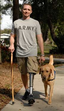 Canine Companions for Independence have a Wounded Veteran Initiative. It pairs wounded veterans with a highly trained service dog. It is a nation-wide organization that does amazing things!