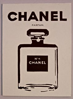 Chanel Perfume Pop Art Chanel No. 5 by contrastcanvas on Etsy