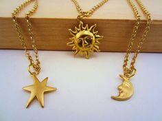 Sun moon stars best friend set. Set of three by JacAndElsie