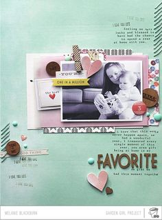 Love this layout by Mel Blackburn. Check out all those beautiful details.