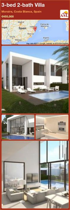 3-bed 2-bath Villa in Moraira, Costa Blanca, Spain ►€455,000 #PropertyForSaleInSpain