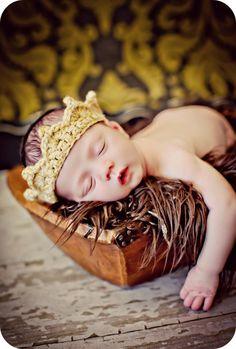 Newborn Baby Boy Photo Prop Crown by MitziKnitz on Etsy