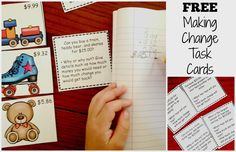 How to Teach Making Change...Includes Free Task Cards