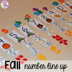 Fall math, literacy, fine motor, art, sensory, and dramatic play activities for your preschool, pre-k, and kindergarten classroom.