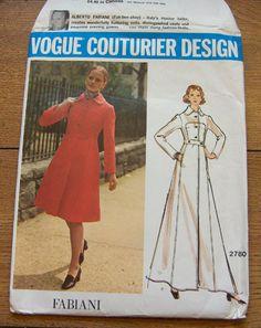 vintage 60s/70s vogue pattern 2780 misses coat by GransTreasures