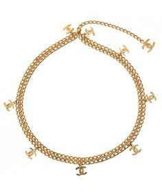 005bc9a1500 tweedehands vintage chanel ketting riem online bij Labellov webshop  antwerpen belgie Vintage Chanel, Versace,