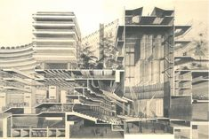 Barbican Cross Section The Barbican Centre is a performing arts centre in the City of London, designed by Chamberlin, Powell and Bon