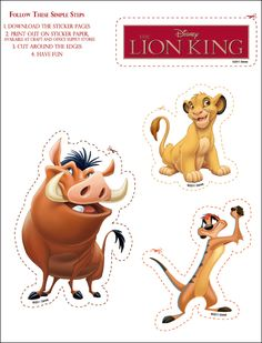 The Lion King Printable Stickers - Rewards - Disney Movie Rewards Lion King Theme, Lion King Party, The Lion King 1994, Lion King Cakes, Lion King Simba, Disney Lion King, Simba Y Nala, Lion King Pictures, Lion King Musical