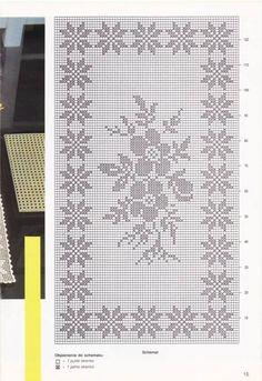 Only Crochet Patterns Part 20 - Beautiful Crochet Patterns and Knitting Patterns Thread Crochet, Crochet Doilies, Crochet Flowers, Crochet Lace, Crochet Stitches, Crochet Patterns Filet, Crochet Table Runner Pattern, Knitting Patterns, Fillet Crochet