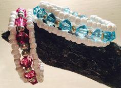 Wikkel armband met bicone kralen