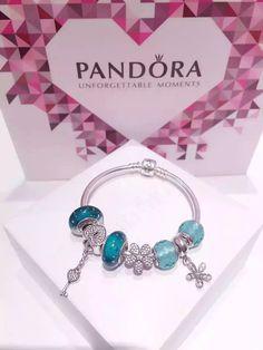 50% OFF!!! $199 Pandora Charm Bracelet Green. Hot Sale!!! SKU: CB01563 - PANDORA Bracelet Ideas