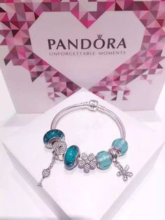 50% OFF!!! $199 Pandora Charm Bracelet Green. Hot Sale!!! SKU: CB01563 - PANDORA Bracelet Ideas