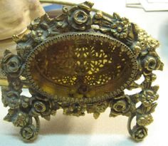 Perfume Bottle reinvented to Frame Ornate Filigree Gold by MOJEART, $60.00
