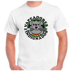 www.vapor-madrid.es linea Merchandising vapeo  camiseta Vapeadores Indignados  materiales 100% algodón ring spun. 165 grs/m2 punto liso. Cuello redondo con elastómero. Refuerzo de hombro a hombro. Doble pespunte en cuello, bajo y mangas. Etiqueta gris bordada. Puedes personalizar una camiseta para cualquier ocasión especial: camisetas divertidas para regalar, camisetas con la foto de tu familia, camisetas geek para una fiesta o para lucir las frases de las series o películas que más te…
