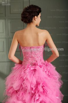 feathered tulle | Buy cheap 2013 Pink Tulle Feather Sweetheart Crystal Prom Dresses Lace ...