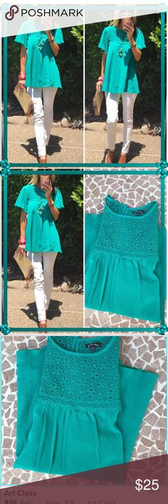"""Art Class! These beautifully designed top by """"Art Class"""" for target are fun!. Vibrant color, fun flare sleeve, lace and chic!. Sold it with my last ones and found one more. Brand new! Art Class Tops"""