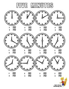 11 best free clock coloring sheets