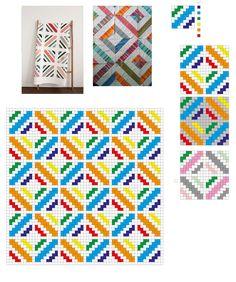 Choosing Colours for The Cedar River Blanket — Gartur Stitch Farm - Proposal C2c Crochet Blanket, Crochet Quilt, Tapestry Crochet, Crochet Chart, Crochet Squares, Filet Crochet, Crochet Stitches, Crochet Patterns, Blanket Patterns