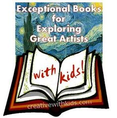 Book list for exploring great artists with kids.  Do you have any book recommendations? #artprojects