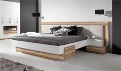 Lit design WHITE - Lit moderne 2 personnes - Chambre adulte contemporaine