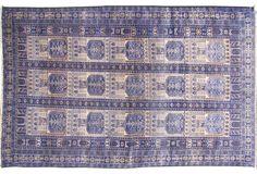 "Purple Persian Shiraz Rug, 3'9"" x 6'7"""
