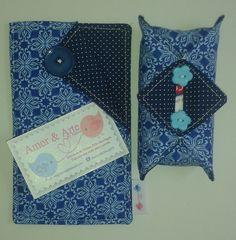Capa para celular e porta lenço de papel