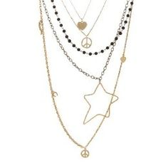 <3 these necklaces layered