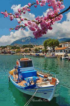 Marathokampos by Yiannis Logiotatides on Fotoblur Wonderful Places, Beautiful Places, Samos Greece, Zakynthos, Myconos, Places In Greece, Rivage, Greece Islands, Greece Travel