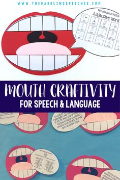 Speech therapy crafts that add FUNctional decor to your room and extra ways for students to practice their speech goals.