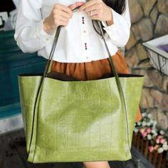 Retro Crocodile Print and PU Leather Design Women's Shoulder Bag