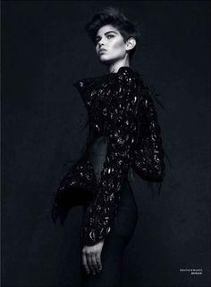 Amra Cerkezovic by Natalia Alaverdian for Harper's Bazaar Russia, December 2012